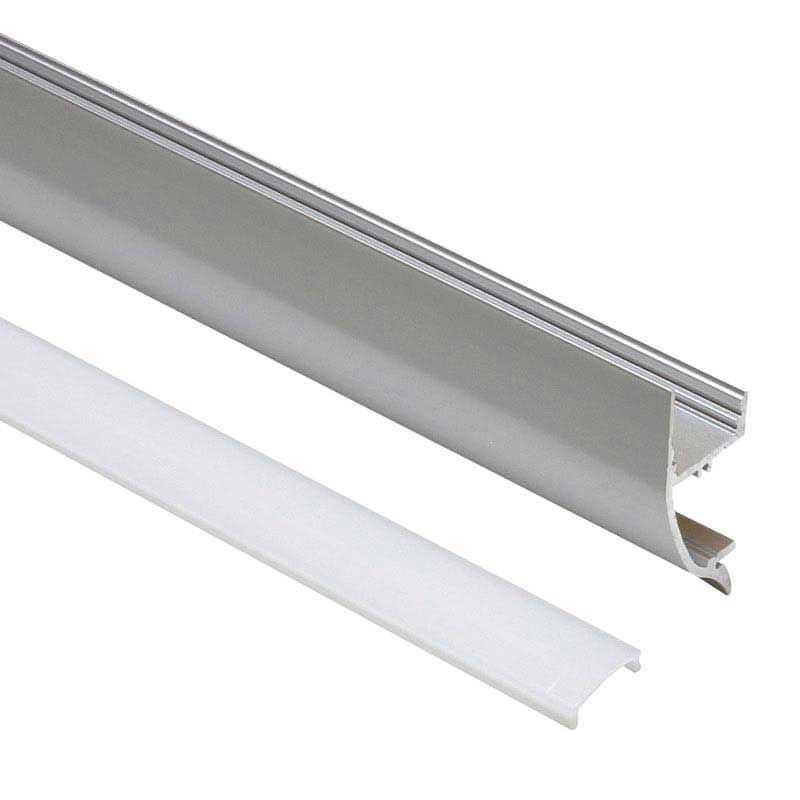 Perfil Aluminio Pared-Aplique 1 Metro Tira LED