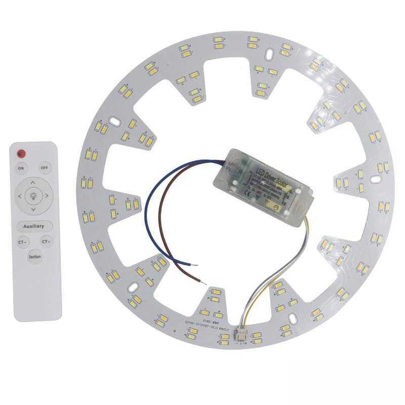 Aro LED 44W 3 colores y mando