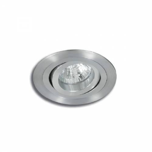 Empotrable Redondo Aluminio Natural y Anonizado