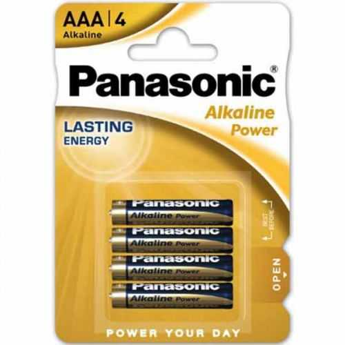Blíster 4 Pilas Alcalinas Panasonic AAA LR03 1,5 V