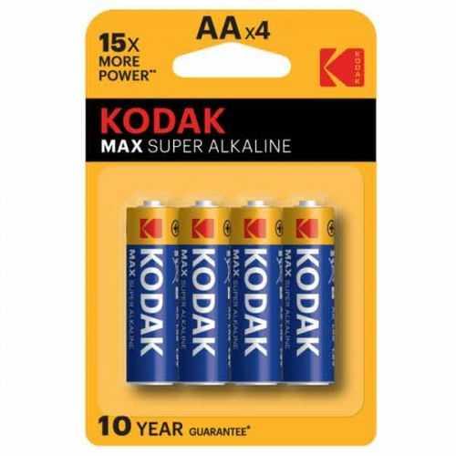 Blíster 4 Pilas Alcalinas Kodac AA LR06 1,5 V