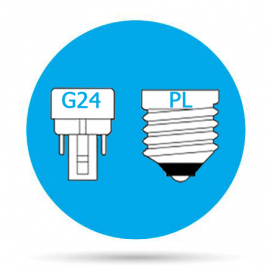 Lámparas Downlight LED G24