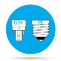 Lámparas Downlight LED G24
