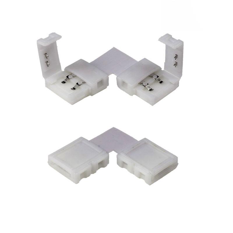 Conectores de 90º para tiras LED